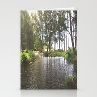 outdoor Stationery Cards featuring Outdoor River Campsite by Tianna Chantal