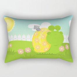 Green Snail (male) Rectangular Pillow