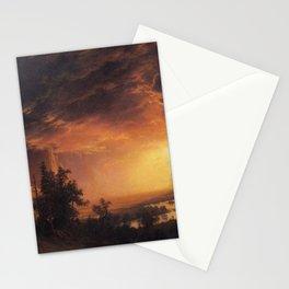 Albert Bierstadt - Sunset in the Yosemite Valley Stationery Cards