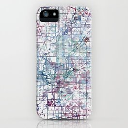 Indianapolis map iPhone Case