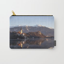 Bled lake in winter Carry-All Pouch