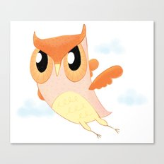 Orange Owl Canvas Print