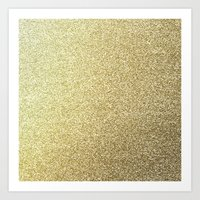 gold glitter Art Prints featuring gold glitter by lamottedesign