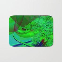 Abstract Green Algae Bath Mat