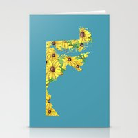 maryland Stationery Cards featuring Maryland in Flowers by Ursula Rodgers
