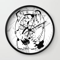 drunk Wall Clocks featuring Drunk by 5wingerone
