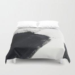 brush stroke black white painted II Duvet Cover