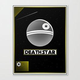 Death Star Poster Canvas Print