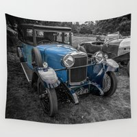 cars Wall Tapestries featuring Classic Cars by Adrian Evans