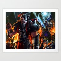 league of legends Art Prints featuring Darius- League of Legends by DragonFlamely
