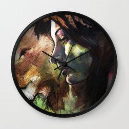 Rock, Paper, Knife Fight! Wall Clock
