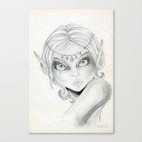 elf Canvas Prints featuring Elf by Alapapaju