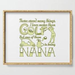 Golf Nana Serving Tray