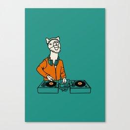 Flock of Gerrys - Llama is my DJ Canvas Print
