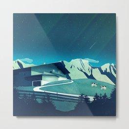 Alpine Hut Metal Print