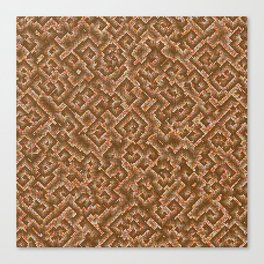 Algorithmic spirals in orange Canvas Print