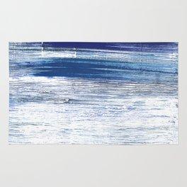Indigo abstract watercolor Rug