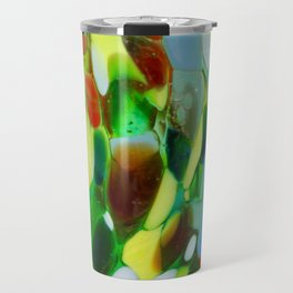 Mexican Rainbow Glass Travel Mug