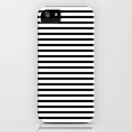 Black And White Breton Nautical Stripes Lines Minimalist Stripe Line iPhone Case