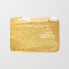 Sandy brown abstract wash painting Bath Mat