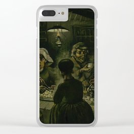 The Potato Eaters by Vincent van Gogh Clear iPhone Case