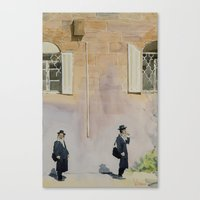 jewish Canvas Prints featuring Jewish Quarter by Andrey Esionov