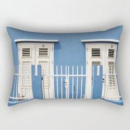 Blue Caribbean house Rectangular Pillow