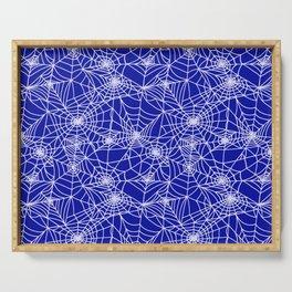 Royal Blue Cobwebs Serving Tray