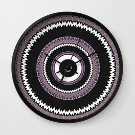 Decorative Pantone Purple Grey Mandala Wall Clock