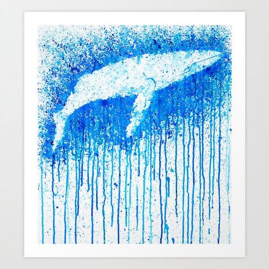 Solitude Whale Art Print