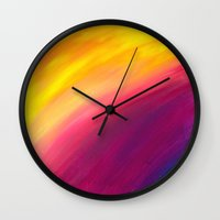 skyfall Wall Clocks featuring Skyfall by Sierra Christy Art
