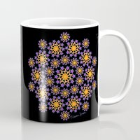 sun and moon Mugs featuring Sun, Moon and Stars by artsytoocreations