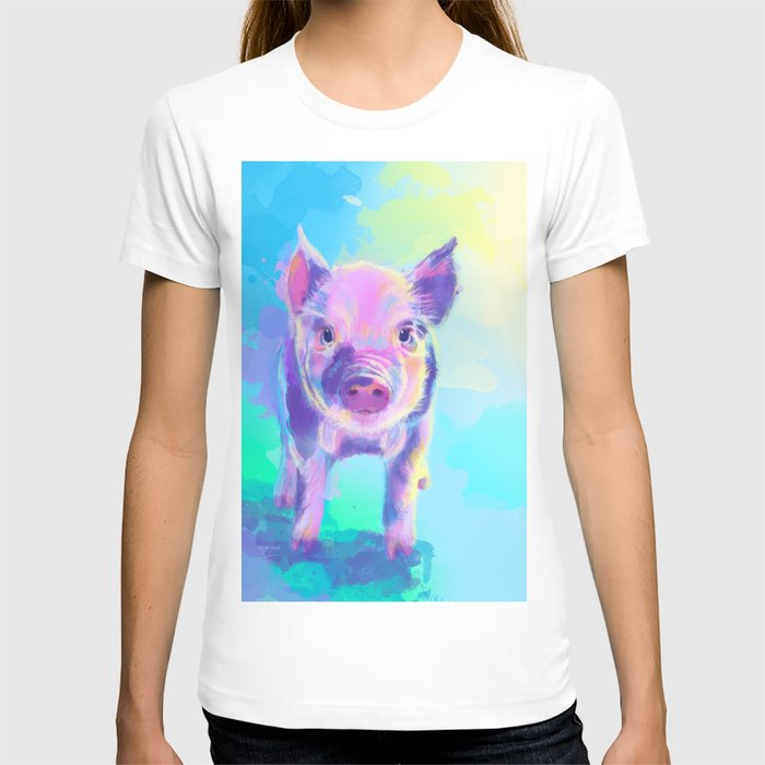 Once Upon a Pig - digital painting T-shirt