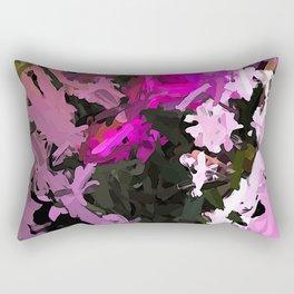 Pink Flowers AbEx 1 Rectangular Pillow
