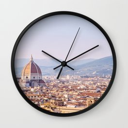 Florence Skyline - Italy Travel Photography Wall Clock