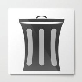 Trash bin icon Metal Print