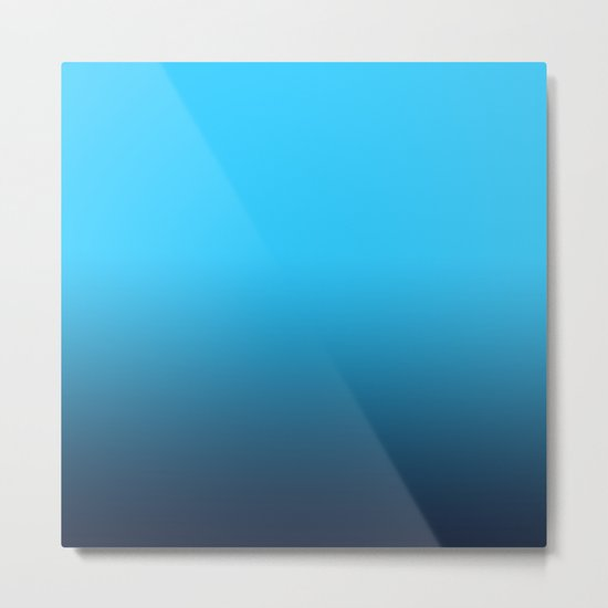 Simply fresh teal blue color gradient - Mix and Match with Simplicity of Life Metal Print