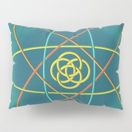 Line Atomic Structure Pillow Sham