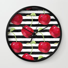 Cherry pattern Wall Clock