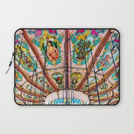 Victorian Carousel Swings Art Detail Laptop Sleeve