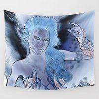 fairy Wall Tapestries featuring Fairy  by nicky2342