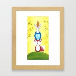 A Furry Friendship Framed Art Print