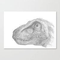 trex Canvas Prints featuring TRex by KC Gillies
