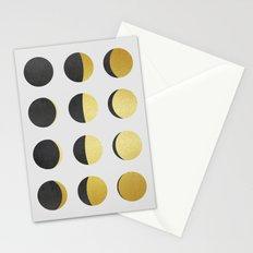 Golden jewelry V Stationery Cards