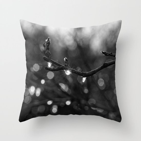 icy lights Throw Pillow