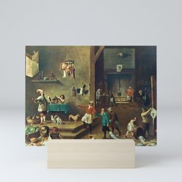 The Kitchen by David Teniers the Younger Mini Art Print