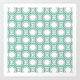 Green Harmony in Symmetry Art Print