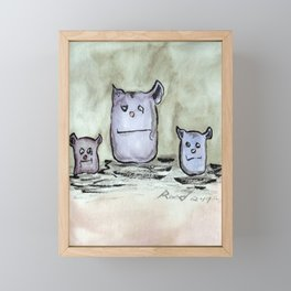 Critter Council of Three Framed Mini Art Print