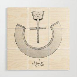 "Nazarene ""ن"" Wood Wall Art"