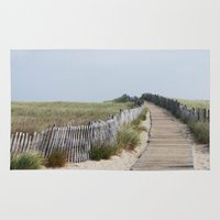 boardwalk empire Area & Throw Rugs featuring Boardwalk by Perri VanderClock Photography
